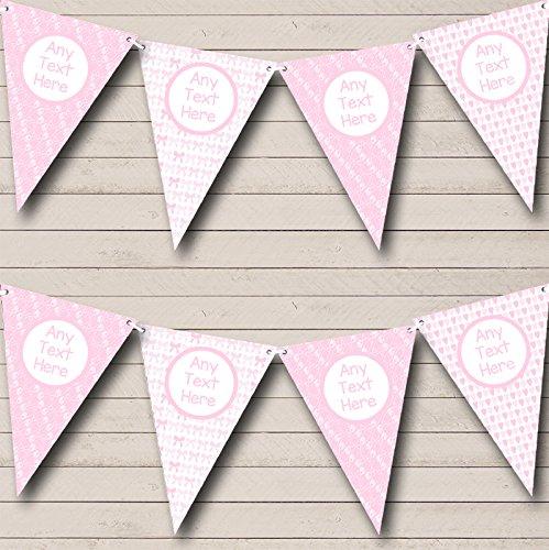 partij Banner Bunting roze luier pinnen strikken meisje vrij doop doop doop Large