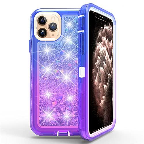 DEIOKL Funda para iPhone 11 Pro MAX 7 8 6 6s Plus Funda TPU GlitterLiquid Funda para iPhone X XS Funda rígida MAX XR, 4, para iPhone 7 Plus
