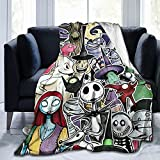 Nightmare Before Christmas Blanket Soft Fleece Flannel Blanket, Suitable for Bed, Sofa, Chair, Living Room 50' X 40'
