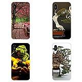 HANO Bonsai Village - Carcasa de TPU para iPhone 4, 4S, 5, 5C, 5S, SE, 6, 6S, 7, 8 Plus X XS MAX XR