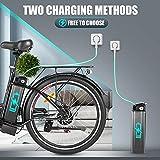 BIKFUN Elektrofahrrad, 20 Zoll E-Bike, Lithium-Akku - 4