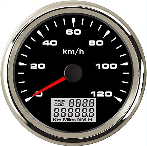 U/D LCZCZL 0-120km / h Metros Auto GPS Velocidad, aceleración de sintonización de 85 mm del Viaje en Coche a Prueba de Agua 9-32V 8 Clases de luz de Fondo de Color (Color : Black 2, Size : Gratis)