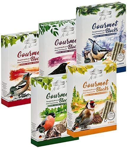 Dehner Natura Premium Wildvogelfutter, Gourmet Blocks, 5er Mix, je ca. 570 g (2.85 kg)