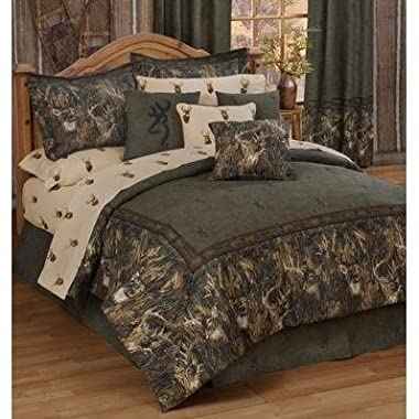 Browning Unisex Whitetails California King Comforter Set Multi One Size