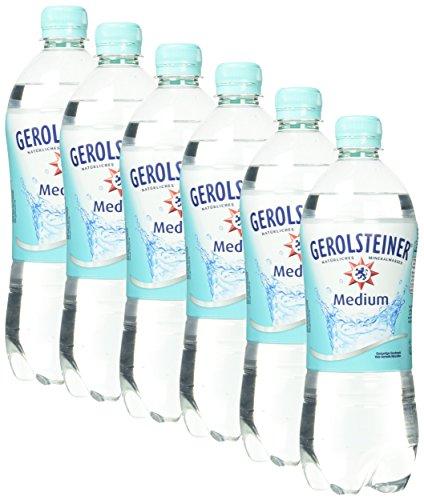 Gerolsteiner Natürliches Mineralwasser Medium EINWEG , 6 x 750 ml