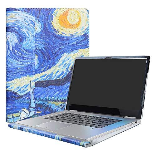 Alapmk Protective Case For 15.6' Lenovo Yoga 730 15 730-15IKB 730-15IWL/CHROMEBOOK C340 C340-15/Yoga Chromebook C630 Laptop,Starry Night