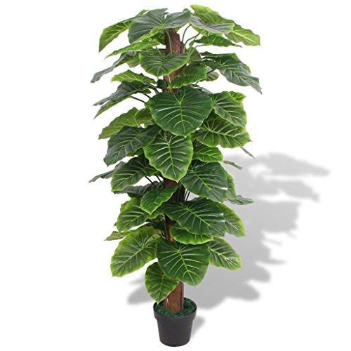 vidaXL Planta de Taro Artificial con Macetero 145 cm Verde Maceta de Plástico