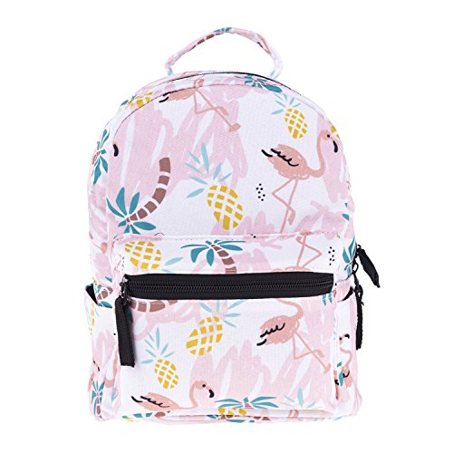 Cute 10 inch mini pack bag backpack for grils children and adult (Flamingos)