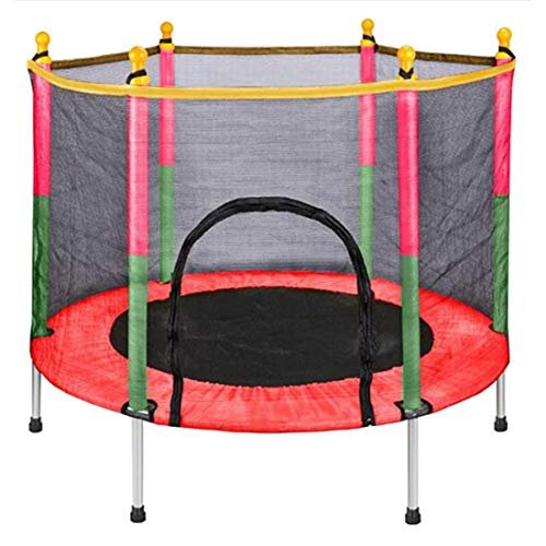RUXINGGU trampoline, 5-ft children's trampoline, with enclosed net-shaped jumping mat and spring cover filled trampoline, indoor and outdoor trampoline for home school recreation and fitness