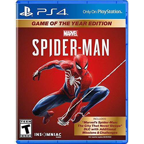 Marvel's Spider-Man Game of the Year Edition - PlayStation 4 + One Travel Toiletry Bag (For Unisex)