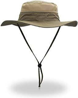 EONPOW Windproof Fishing Hat UPF50+ UV Protection Sun Hat Outdoor Hiking Bucket Mesh Hat 56-61cm