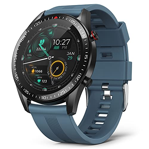 Bingofit Men Smart Watch, Waterproof Sport Watch with 23 Exercise Mode&Connected GPS for Android iOS, Dynamic Heart Rate Activity Tracker Watch Blood Pressure Sleep Monitor Fitness Smartwatch for Men