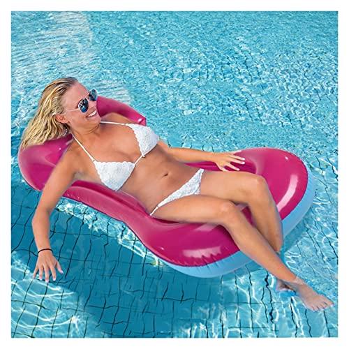 SONG Hamaca de agua reclinable inflable flotante colchón de natación mar anillo piscina fiesta juguete salón cama para nadar