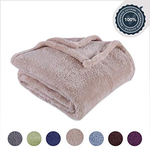 Berkshire Blanket Extra-Fluffy Super Soft Warm Cozy Luxury Blanket, Oyster, King