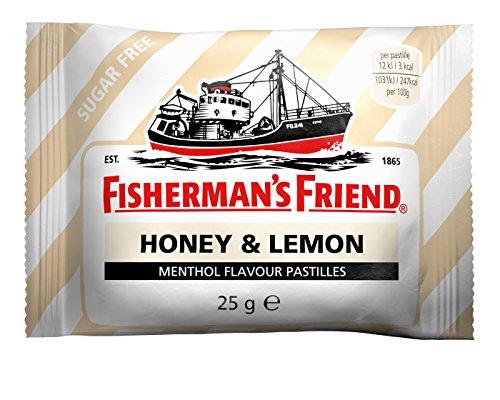Fisherman's Friend Honey and Lemon Menthol Sugar Free Lozenges 25g Packs