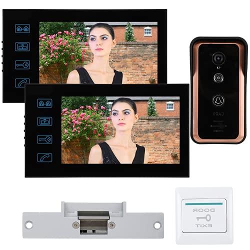 Cámara infrarroja Botón de Timbre Timbre electrónico Sistema Completo de Control de Acceso, para oficinas, para el hogar(Estándar Europeo (100-240v))