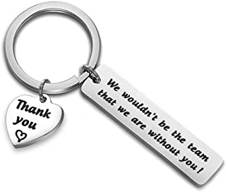 HOLLP Team Gift Thank You Coach Keychain Gift for Team Coach We Wouldn't Be The Team That We are Without You Key Ring Basketball Soccer Baseball Swimming Coach Gift Leader Jewelry