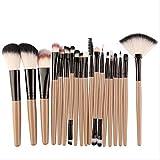 NXXS brochas de maquillaje, 18 piezas, kit de brochas de maquillaje en polvo, sombra de ojos, base, colorete, mezcla, belleza, cosméticos, brocha de maquillaje, Australia como se muestra en la imagen