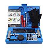 Tire Repair Kit, 63 pcs TirePatch Kit with Plugs to Fix Punctures and Plug Flatsfor Car, Motorcycle,Truck,Tractor, Trailer, RV,ATV, ARB, SUV (63pcs)