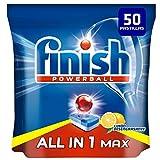 Finish Powerball All in 1 Max - Pastillas para el lavavajillas todo en 1 - limón - formato 50 unidades