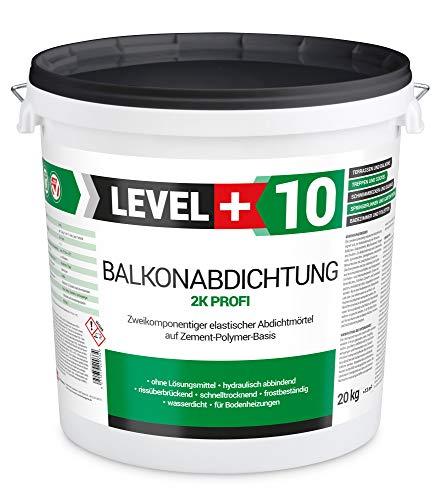 Balkonabdichtung 20 kg, flexibel Dichtschlämme 2K, Abdichtung, Terrasse, Balkone, Keller, Dusche, Bad, Schwimmbäd, RM10