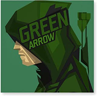BINGQINGYUJIE Frameless Canvas Painting, Green Arrow,Modern Decorative Artwork on Canvas Wall Art for Home Decoration Wall Decor,4040cm