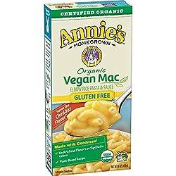 Annie's Organic Vegan Macaroni and Cheese Elbows & Creamy Sauce Gluten Free Pasta, 6 oz