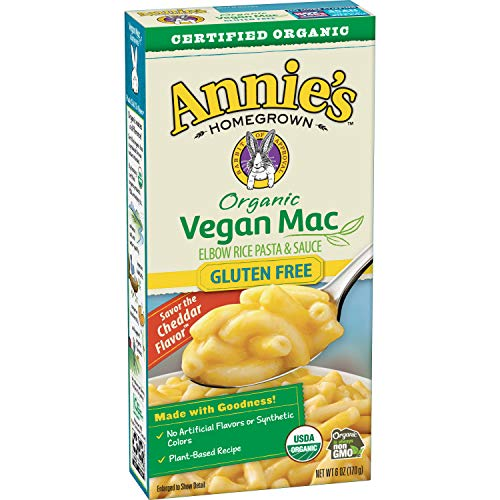 Annie#039s Organic Vegan GlutenFree Elbows amp Creamy Sauce Macaroni amp Cheese 12 Boxes 6oz Pack of 12  Packaging May Vary