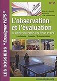 L'observation et l'évaluation au service du progrès des élèves en EPS