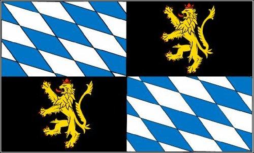 Rheinische Pfalzgrafschaft Fahne / Flagge Größe 1,50x0,90m - FRIP –Versand®