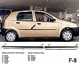 Spangenberg Listones de protección laterales negros para Fiat Punto tipo 188 de 5 puertas antes de Facelift año de construcción 09/1999 – 03/2012 F8 (3700008)