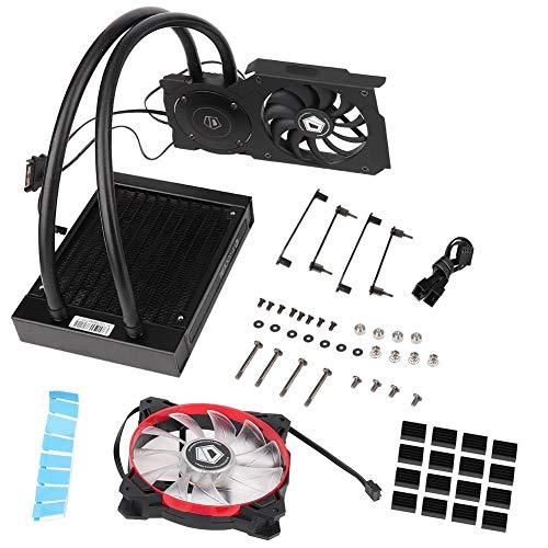 [Aktualisierung] Wasserkühlungs-Kit, ID-Cooling Frostflow 120VGA-Grafikkarte Wasserkühler CPU-Kühler 12CM Lüfter, CPU-Lüfter