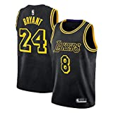NQI Maglia da Basket da Uomo Black Mamba Kobe Bryant, Maglia da Basket Swingman Unisex Edizione...