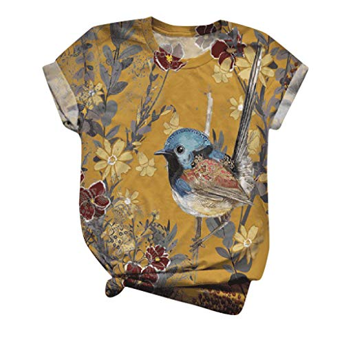 Dasongff Schön Katze Kurzarm Oberteile Tops Damen 3D T-Shirts Lustig Bunt Bluse Shirts Sommer Lässig Plus Size Bequeme Hemd Tee Tops Frauen Rundhals Tshirts