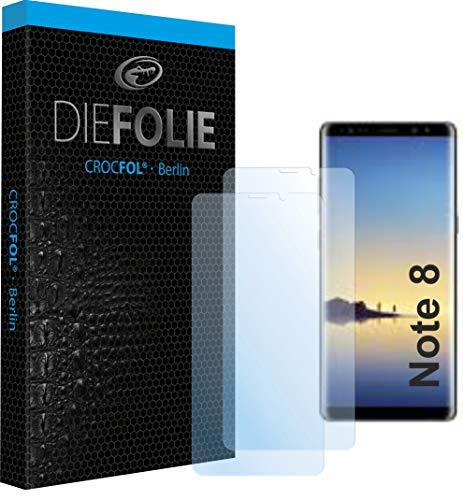 Crocfol Schutzfolie vom Testsieger [2 St.] kompatibel mit Samsung Galaxy Note 8 - selbstheilende Premium 5D Langzeit-Panzerfolie inkl. Veredelung - für vorne, hüllenfreundlich
