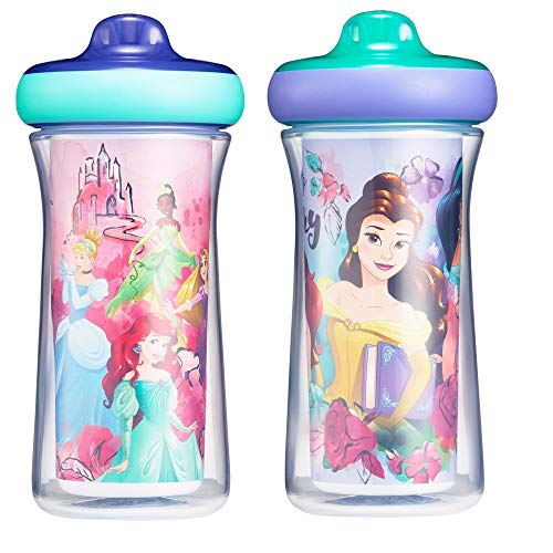 The First Years Disney Princess Insulated Hard Spout Sippy Cups, 9 Ounce (Pack of 2)