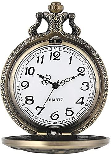 Reloj bolsillo, moneda estadounidense única Morgan, patrón medio dólar, reloj bolsillo para hombres, conciso, grande, esfera blanca, relojes bolsillo cuarzo para mujeres, hombres, mujeres, regalo