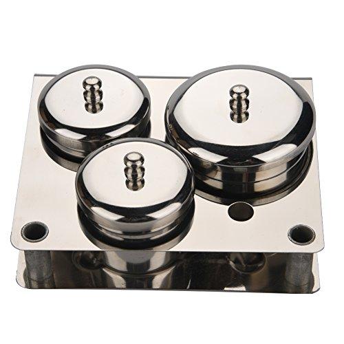 Outils pour les ongles, 3pcs Acier inoxydable Mini-poudre pour poudre et liquide Set de boîtes de rangement pour outils de manucure compacts