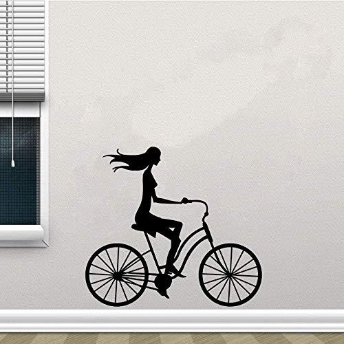Pegatinas de pared de bicicleta clásicas pegatinas de pared de PVC decoración del hogar pegatinas de cocina y gimnasio 55Cm * 49,8Cm
