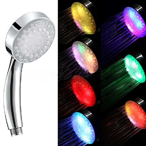 Doccia LED Luminosa a LED 7 colori LED Shower Doccetta Soffione