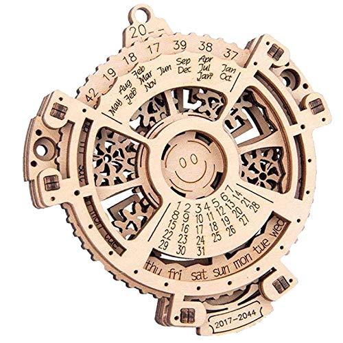 Perpetual Calendar-3D-Holzbausatz, Mechanische Ausrüstung Modelle, 3D Puzzle, Modellbau Mechanische Modellbau Kits Für Jugendliche und Erwachsene, Mädchen und Junge Geschenkideen
