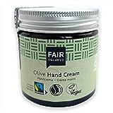 FAIR SQUARED Hand Creme Olive 50 ml - Handpflege für trockene Haut mit Fairtrade-Olivenöl - vegane Naturkosmetik - Zero Waste im Mehrweg-Glastiegel