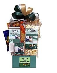 Soccer themed gift basket gift idea