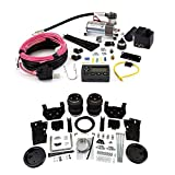 Air Lift 88399 72000 Rear Set of Load Lifter 5000 Ultimate Series Air Springs with Wireless AIR Dual Path On-Board Air Compressor System Bundle for Ford F-250 F-350 F-450