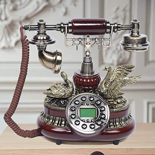 Teléfono de sobremesa vintage con cable de alta gama, retro, imitación de...