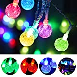 NUR 16.5ft Color Changing Fairy String Lights with 50 RGB Globe LED Lights, 16 Stunning Colors & 4 Lighting Modes, Remote Control & USB Plug-in, Waterproof for Indoor and Outdoor Decoration