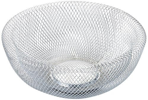 NIFTY 7520CHM Double Wall Mesh Chrome Decorative and Fruit Bowl, 3.5 quart/10