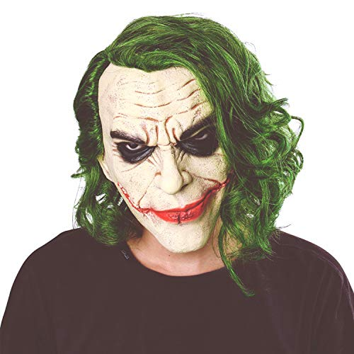 Joker Mask Clown Costume Cosplay Movie Adult Party Masquerade Rubber Latex Scary Clown Masks for Halloween