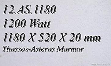 Calefacción por infrarrojos–Calefactor de infrarrojos eléctrico (mármol Magma Calefacción 1200W 12. AS.1180