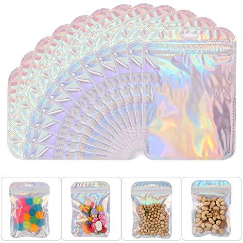 AKlamater 150 Stücke Wiederverschließbare Geruchssichere Tasche Folien Tasche Flachbeutel Reißverschluss Tasche für Party Favor Food Lagerung